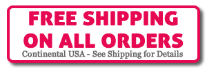Free Shipping on all orders - anywhere in the country!